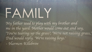 Harmon Killebrew Quote at Target Field