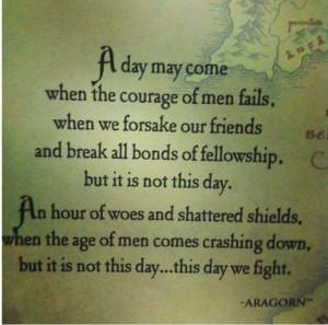 Aragorn's speech!