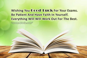 Wishing You Good Luck For Your Exams