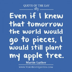 Quote Of The Day about determination by Martin Luther