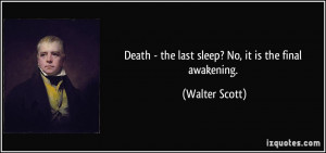 No Sleep Quotes Death - the last sleep? no