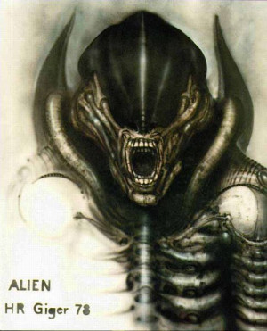 Sketch for 'Alien', H.R. Giger]