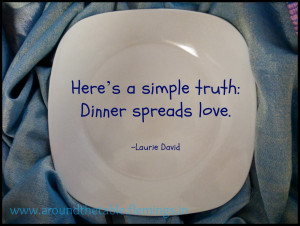 laurie david wrote the book the family dinner she s got a lot of good ...
