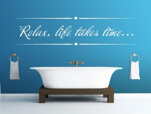Relax text quote wall decal