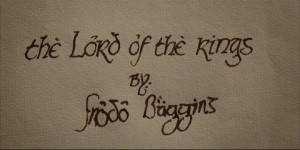 And the Lord of the Rings by Frodo Baggins