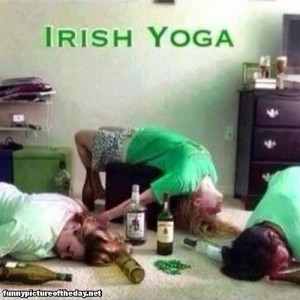 Irish Yoga Funny Drunk Passed Out Girls St Patrick's Day