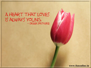 Heart in Love is always young