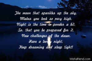 The moon that sparkles up the sky,