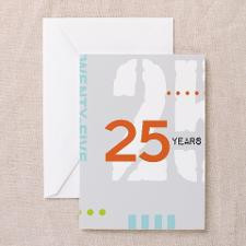 Anniversary Card: 25 Years Greeting Cards for