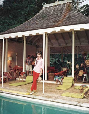 Babe Paley's much imitated Jamaican pool cabana circa 1950s Photos ...