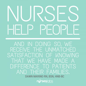 ... satisfaction of knowing that we have made a difference to patients and