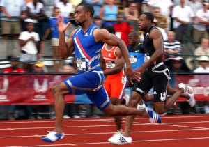 Tyson Gay wins the men's 100 metre final on day three of the US Track ...