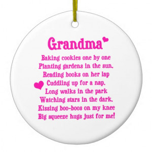 Grandma's Poem Christmas Ornament