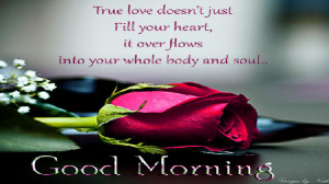 True love quotes with good morning