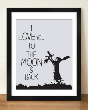 Digital Download I Love You To The Moon and Back by dotsonthewall, $6 ...