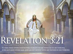 Bible Verse Revelation 3:21 Jesus In Heaven Wallpaper   TOHH Bible ...