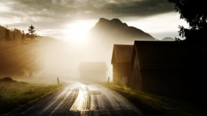 Country Morning - Country, Road, Morning, Nature, Sun, Morning Fog ...