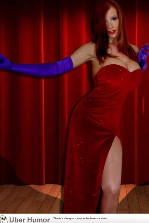 Cosplaying as Jessica Rabbit. Did I do it right?