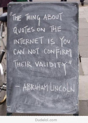 Best Lincoln quote ever