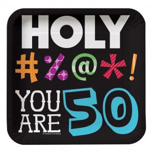 Home > Holy Bleep 50th Birthday - Square Dessert Plates