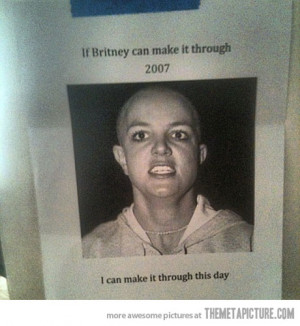 Funny photos funny Britney Spears bald