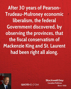 After 30 years of Pearson-Trudeau-Mulroney economic liberalism, the ...