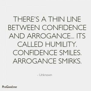 arrogance quote
