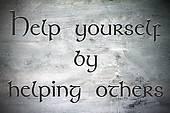 Inspirational, hopeful and motivating quote on vintage backgrou