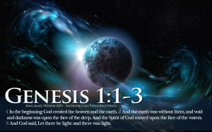 Bible Verse In The Beginning Genesis 1:1-3 Let There Be Light HD ...