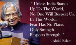 Uplifting Quote by APJ Abdul Kalam with Picture !!