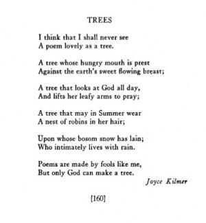 Joyce Kilmer, Poetry , August 1913