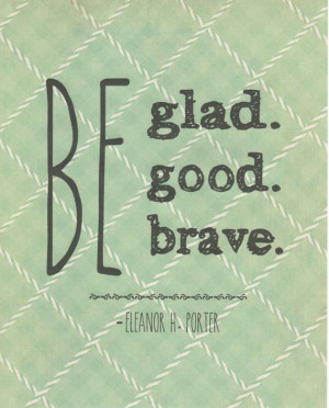 Eleanor H. Porter quote typography print -
