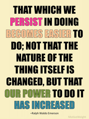 It will get easier because you'll get better (if you persist).