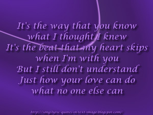 Crazy In Love - Beyonce Knowles Song Lyric Quote in Text Image