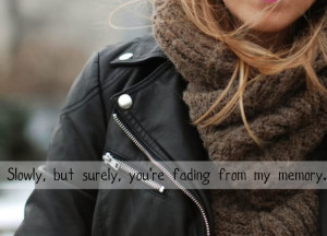 Slowly,but Surely.You're Fading From My Memory ~ Break Up Quote