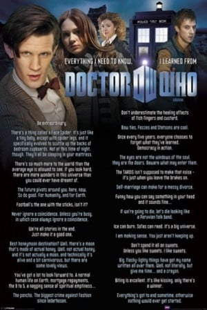 Everything I know I Learned From The Doctor - Doctor Who