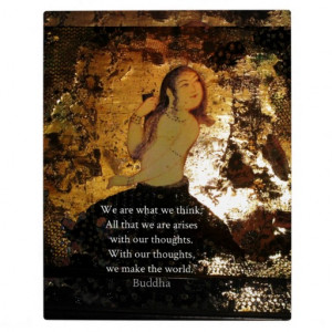 Uplifting Buddha Quote Plaque