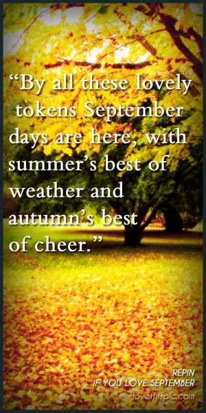 September Quotes Quote
