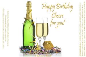 Happy Birthday Wine Images Custom wine label 05 - happy