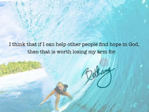 Soul Surfer Bethany Hamilton Quote