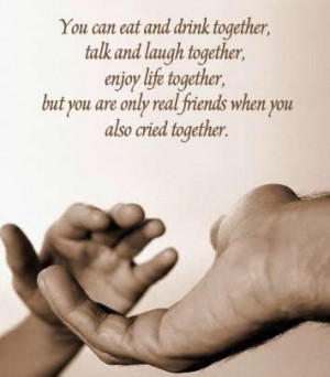 You can eat and drink together, talk and laugh together,enjoy life ...