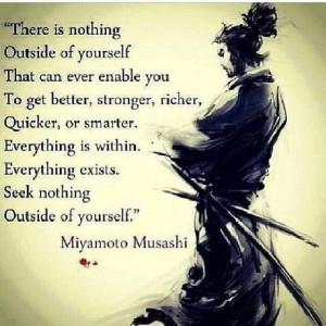 Miyamoto Musashi speaks..
