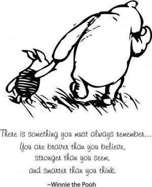 Classic Winnie the Pooh and Piglet You must always remember baby quote ...