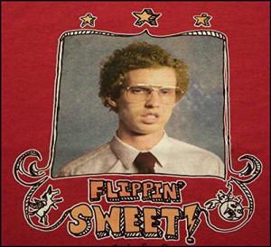 Napoleon Dynamite Flippin Sweet red T-shirt