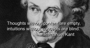 Thoughts without content are empty, intuitions without concepts are ...