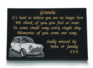 Memorial for a Father or Grandfather