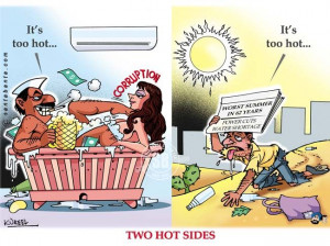 North India is in the grip of a severe heat wave with temperatures ...