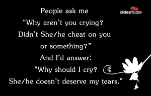 """Home » Quotes » People Ask Me """" Why Aren't You…."""