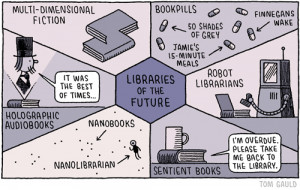 Libraries of the future . A cartoon by Tom Gauld, an extremely popular ...