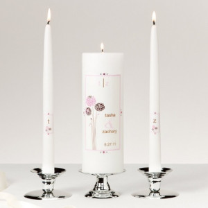 White And Black Unity Candle
